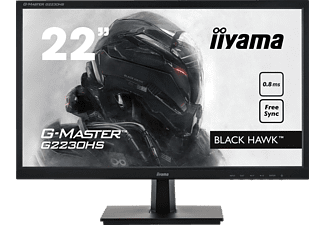 IIYAMA G-MASTER G2230HS-B1 BLACK HAWK ™ 22 Zoll Full-HD Gaming Monitor (0,8 ms Reaktionszeit, 75 Hz)