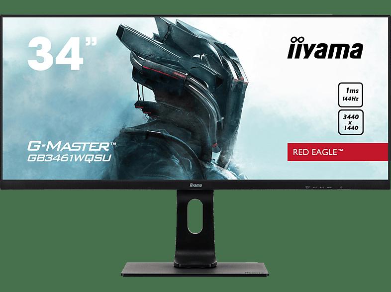 IIYAMA G-MASTER GB3461WQSU-B1 RED EAGLE 34 Zoll UWQHD Gaming Monitor 1 ms Reaktionszeit, 144 Hz