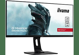 IIYAMA G-MASTER GB3461WQSU-B1 RED EAGLE ™ 34 Zoll UWQHD Gaming Monitor (1 ms Reaktionszeit, 144 Hz)