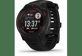 GARMIN Instinct eSports Smartwatch Faserverstärktes Polymer Silikon, 132 - 224 mm, Schwarz/Rot