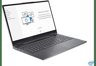LENOVO Yoga 7i EVO, Convertible mit 15,6 Zoll Display, Core™ i7 Prozessor, 16 GB RAM, 1 TB SSD, Intel Iris Xe Grafik, Schiefergrau