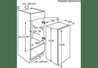AEG SFE712FAAS Kühlschrank (F, 1218 mm hoch, Weiß)