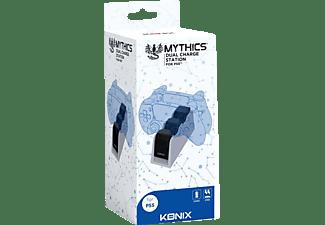 KONIX Ladestation für 2 PS5 Controller, Zubehör PS5, Schwarz/Weiß