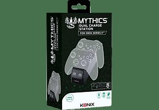 KONIX Ladestation für 2 Xbox Series X Controller, Zubehör für Xbox Series X, Schwarz
