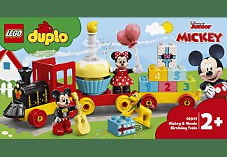 LEGO 10941 Mickys und Minnies Geburtstagszug Bausatz, Mehrfarbig