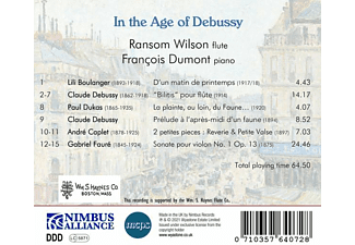 Wilson,Ransom/Dumont,Francois - IN THE AGE OF DEBUSSY  - (CD)