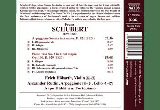 Rudin,Alexander/Höbarth,Erich/Häkkinen,Aapo - PIANO TRIO NO. 2 - ARPEGGIONE SONATA  - (CD)