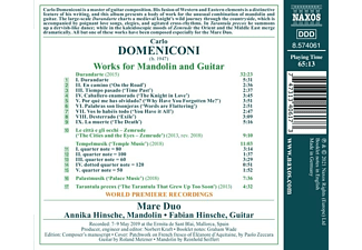 Hinsche,Annika/Hinsche,Fabian - WORKS FOR MANDOLIN AND GUITAR  - (CD)