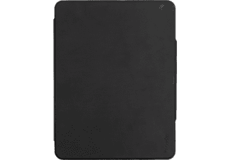 GECKO Keyboard Cover (QWERTZ) Tastatur Cover Bookcover für Apple Kunstleder, Schwarz