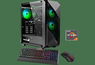 HYRICAN Striker 6633, Gaming PC mit Ryzen 7 Prozessor, 16 GB RAM, 960 GB SSD, GeForce RTX 3080, 10 GB