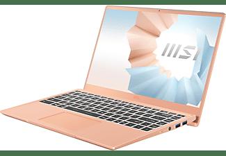 MSI Modern 14 B11SB-086, Notebook mit 14 Zoll Display, Intel® Core™ i7 Prozessor, 16 GB RAM, 512 GB SSD, GeForce MX450, Beige Mousse
