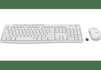 Pack Teclado + Ratón - Logitech MK295 Silent Wireless Combo, Inalámbrico, Bluetooth, USB,10 m, Blanco