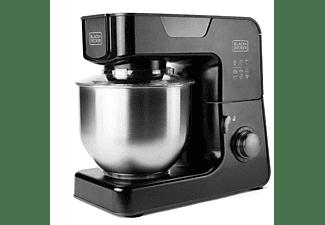 Robot de cocina - Black & Decker BXKM1000E, 1000 W, 8 Velocidades, Función Turbo, Capacidad 5.2 L, Negro