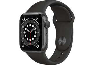 APPLE Watch Series 6 GPS, 40mm Aluminium Case Siyah Sport Band Akıllı Saat Uzay Grisi