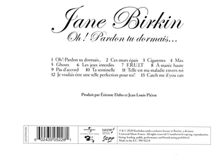 Jane Birkin - OH! PARDON TU DORMAIS  - (CD)