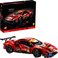 "LEGO 42125 Ferrari 488 GTE ""AF Corse #51"" Bausatz, Rot"