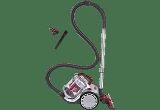EXQUISIT BP 6401 SI Bodenstaubsauger mit Akku Staubsauger, maximale Leistung: 130 Watt, Silber/Rot)