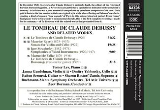Lev,Tomer/Dorman,Zeev/Buchmann-Mehta SO - LE TOMBEAU DE CLAUDE DEBUSSY  - (CD)