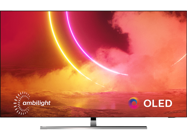 Philips 55OLED855/12 (Flat, 55 Zoll / 139 cm, 4K, SMART TV, Ambilight, Android TV)