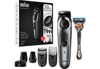 BRAUN Beard Trimmer BT7240 Metallic-Grau
