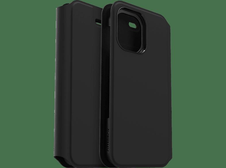 OTTERBOX Strada, Flip Cover, Apple, iPhone 12 12 Pro, Schwarz