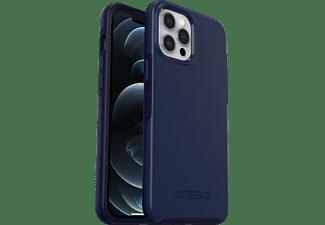 OTTERBOX Symmetry Plus, Backcover, Apple, iPhone 12 Pro Max, Blau