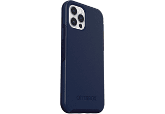OTTERBOX Symmetry Plus, Backcover, Apple, iPhone 12 / 12 Pro, Blau