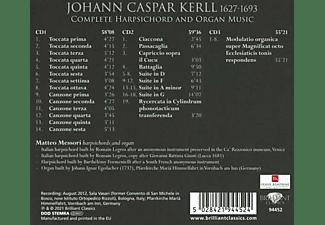 Matteo Messori - KERLL: COMPLETE HARPSICHORD AND ORGAN MUSIC  - (CD)