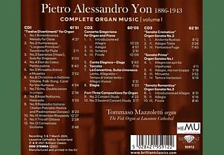 Tommaso Mazzoletti - YON: COMPLETE ORGAN MUSIC, VOL.1  - (CD)