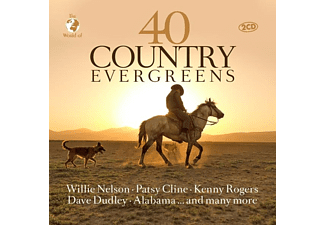 Nelson,Willie-Cline,Patsy-Rogers,Kenny - 40 COUNTRY EVERGREENS  - (CD)