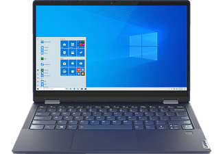 LENOVO Yoga 6, Convertible mit 13,3 Zoll Display Touchscreen, Ryzen 5 Prozessor, 8 GB RAM, 512 GB SSD, AMD Radeon Grafik, Dunkelblau