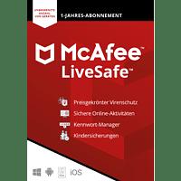 McAfee LiveSafe Attach für alle Geräte in einem Haushalt, 1 Jahr, Code in einer Box - [PC, iOS, Mac, Android] - [Multiplattform]