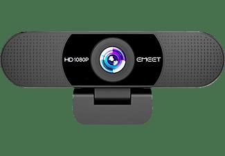 EMEET Webcam C960 HD, 1080P/30fps, 2 Mikrofone, Schwarz (EMC960BLKDE)