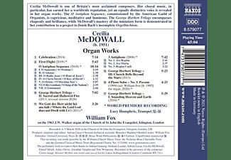 William Fox - CECILIA MCDOWALL: WORKS FOR ORGAN  - (CD)
