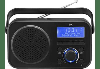 Radio portátil - OK ORD 210 DAB, Sintonizador, DAB, FM, LCD, Negro