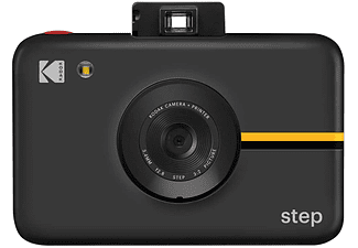 Impresora fotográfica - Kodak Step, Impresiones 2″ x 3″, LED, MicroSD, Negro + Papel fotográfico Zink