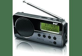PEAQ PRR050-B-1 DAB+ Radio Portable, DAB+, FM, Schwarz/Metal