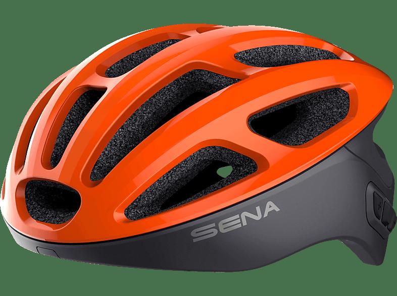 SENA R1 Tangerine M (Fahrradhelm, 55-59 cm, Orange)