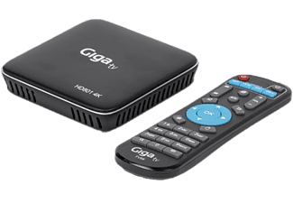 Reproductor multimedia - GigaTV Android HD801 4K, Android 10, DLNA, 4K x 2K 60fps, MiraCast, Negro + Mando
