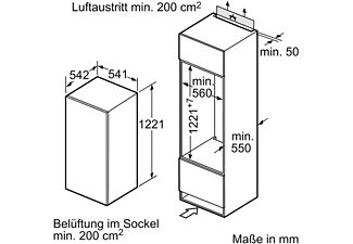 NEFF K1545XFF1 N30 Kühlschrank (F, 1221 mm hoch, k.A.)
