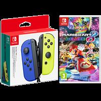 NINTENDO Joy-Con Controller 2er-Set Blau/Neongelb + Mario Kart 8 Deluxe