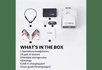 AFTERSHOKZ Open-Ear-Bluetooth-Kopfhörer OpenMove, slate grey
