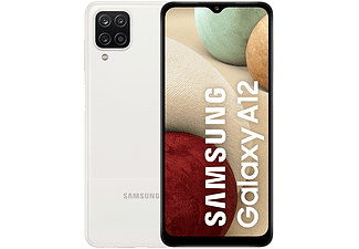 "Móvil - Samsung Galaxy A12, Blanco, 128 GB, 4GB RAM, 6.5"" HD+, Quad Cam, MTK6765, 5000 mAh, Android"