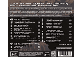 Ayrapetyan,M./Ayrapetyan,Y./Sergeev,V./Fokin,D. - Complete Piano Works And Chamber Works with Piano  - (CD)