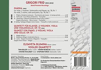 Elisaveta/vogler Quartett Blumina - Phädra - Klavierquintett op.72  - (CD)