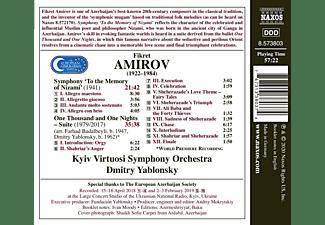Dmitry/kyiv Virtuosi Symphony Orchestra Yablonsky - One Thousand And One Nights  - (CD)
