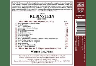 Warren Lee - Anton Rubinstein: Le Bal  - (CD)