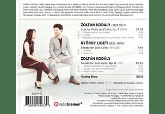 Gabriel Schwabe, Hellen Weiß - Sonata for Solo Cello Op. 8  - (CD)