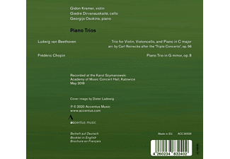 Kremer,Gidon/Dirvanauskaite,Giedre/Osokins,Georgij - PIANO TRIOS  - (CD)