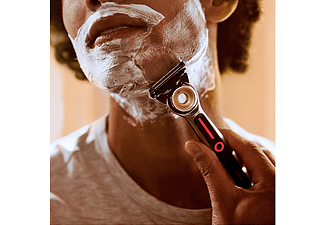 Afeitadora- GilletteLabs Heated Razor, Kit básico máquina de afeitar + recambio + base, Negro